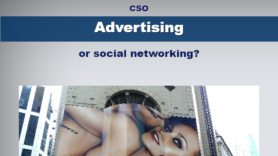advertising or social networking