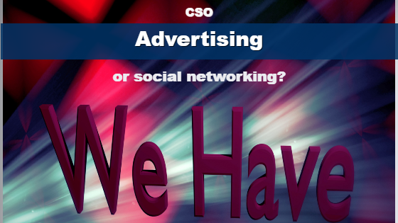 advertising or social networking we have